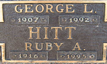 HITT, GEORGE L - Mohave County, Arizona | GEORGE L HITT - Arizona Gravestone Photos