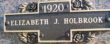 HOLBROOK, ELIZABETH J - Mohave County, Arizona | ELIZABETH J HOLBROOK - Arizona Gravestone Photos