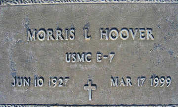 HOOVER, MORRIS L - Mohave County, Arizona | MORRIS L HOOVER - Arizona Gravestone Photos