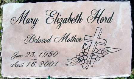 HORD, MARY ELIZABETH - Mohave County, Arizona   MARY ELIZABETH HORD - Arizona Gravestone Photos
