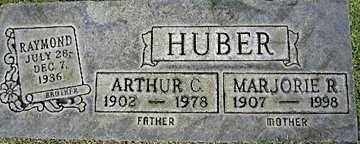 HUBER, MARJORIE R - Mohave County, Arizona   MARJORIE R HUBER - Arizona Gravestone Photos