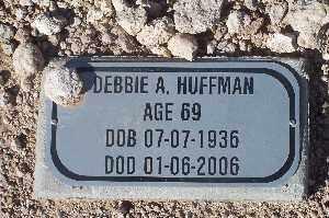 HUFFMAN, DEBBIE A - Mohave County, Arizona | DEBBIE A HUFFMAN - Arizona Gravestone Photos