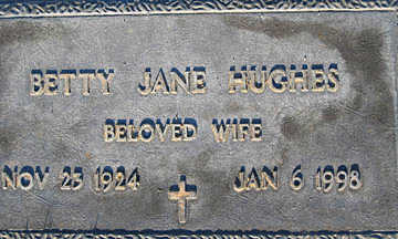 HUGHES, BETTY JANE - Mohave County, Arizona | BETTY JANE HUGHES - Arizona Gravestone Photos