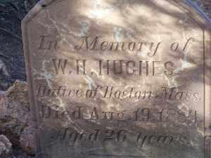 HUGHES, W H - Mohave County, Arizona | W H HUGHES - Arizona Gravestone Photos