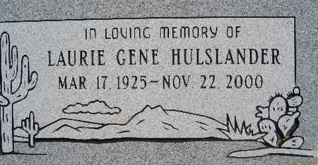 HULSLANDER, LAURIE GENE - Mohave County, Arizona | LAURIE GENE HULSLANDER - Arizona Gravestone Photos