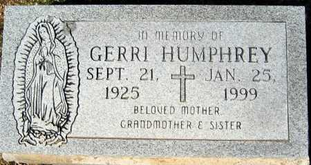 HUMPHREY, GERRI - Mohave County, Arizona | GERRI HUMPHREY - Arizona Gravestone Photos