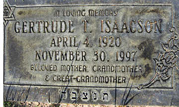 ISAACSON, GERTRUDE T - Mohave County, Arizona | GERTRUDE T ISAACSON - Arizona Gravestone Photos