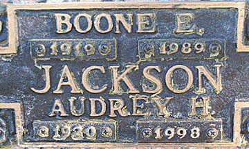 JACKSON, BOONE E - Mohave County, Arizona | BOONE E JACKSON - Arizona Gravestone Photos