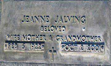 JALVING, JEANNE - Mohave County, Arizona | JEANNE JALVING - Arizona Gravestone Photos
