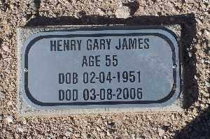 JAMES, HENRY GARY - Mohave County, Arizona | HENRY GARY JAMES - Arizona Gravestone Photos