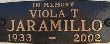 JARAMILLO, VIOLA T - Mohave County, Arizona   VIOLA T JARAMILLO - Arizona Gravestone Photos