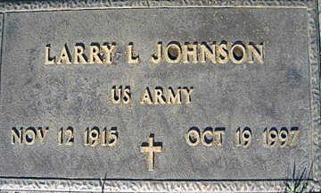 JOHNSON, LARRY L - Mohave County, Arizona | LARRY L JOHNSON - Arizona Gravestone Photos