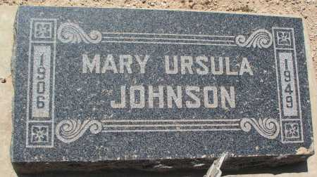 SMITH JOHNSON, MARY URSULA - Mohave County, Arizona   MARY URSULA SMITH JOHNSON - Arizona Gravestone Photos