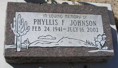 JOHNSON, PHYLLIS F. - Mohave County, Arizona   PHYLLIS F. JOHNSON - Arizona Gravestone Photos