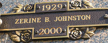 JOHNSON, ZERINE B - Mohave County, Arizona | ZERINE B JOHNSON - Arizona Gravestone Photos