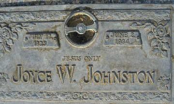 JOHNSTON, JOYCE W - Mohave County, Arizona | JOYCE W JOHNSTON - Arizona Gravestone Photos