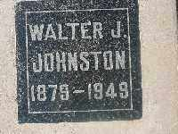 JOHNSTON, WALTER J - Mohave County, Arizona | WALTER J JOHNSTON - Arizona Gravestone Photos