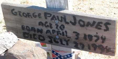 JONES, GEORGE PAUL - Mohave County, Arizona   GEORGE PAUL JONES - Arizona Gravestone Photos