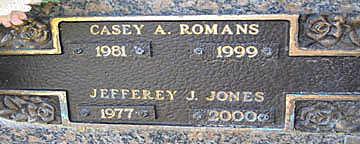 ROMANS, CASEY A - Mohave County, Arizona | CASEY A ROMANS - Arizona Gravestone Photos