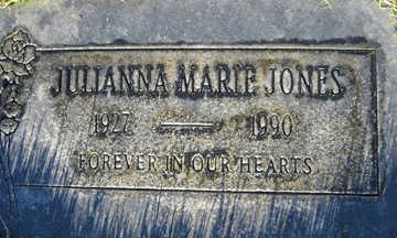 JONES, JULIANNA MARIE - Mohave County, Arizona | JULIANNA MARIE JONES - Arizona Gravestone Photos