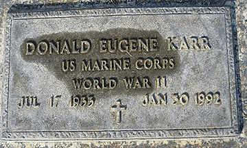 KARR, DONALD EUGENE - Mohave County, Arizona | DONALD EUGENE KARR - Arizona Gravestone Photos