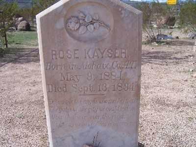 KAYSER, ROSE - Mohave County, Arizona | ROSE KAYSER - Arizona Gravestone Photos