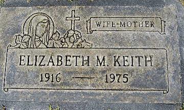 KEITH, ELIZABETH M - Mohave County, Arizona | ELIZABETH M KEITH - Arizona Gravestone Photos