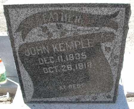 KEMPLE, JOHN - Mohave County, Arizona   JOHN KEMPLE - Arizona Gravestone Photos