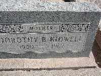 KIDWELL, DOROTHY B - Mohave County, Arizona | DOROTHY B KIDWELL - Arizona Gravestone Photos