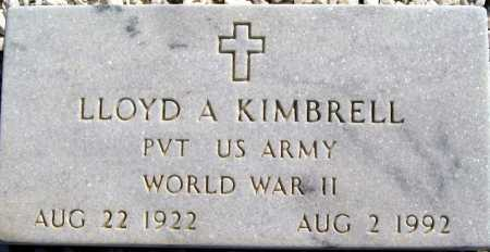 KIMBRELL, LLOYD A - Mohave County, Arizona | LLOYD A KIMBRELL - Arizona Gravestone Photos