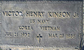 KINSON JR., VICTOR HENRY - Mohave County, Arizona | VICTOR HENRY KINSON JR. - Arizona Gravestone Photos