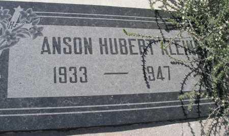 KLEIN, ANSON HUBERT - Mohave County, Arizona | ANSON HUBERT KLEIN - Arizona Gravestone Photos