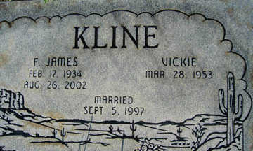 KLINE, F. JAMES - Mohave County, Arizona | F. JAMES KLINE - Arizona Gravestone Photos