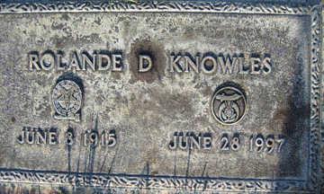 KNOWLES, ROLANDE D - Mohave County, Arizona | ROLANDE D KNOWLES - Arizona Gravestone Photos