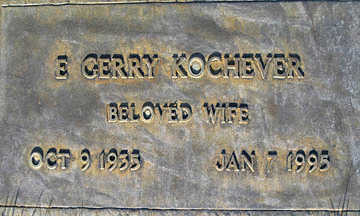 KOCHEVER, E. GERRY - Mohave County, Arizona | E. GERRY KOCHEVER - Arizona Gravestone Photos