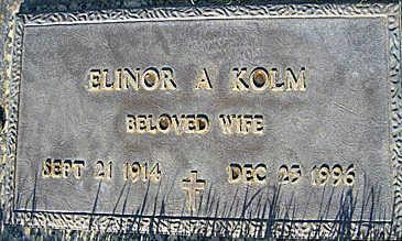 KOLM, ELINOR A - Mohave County, Arizona | ELINOR A KOLM - Arizona Gravestone Photos