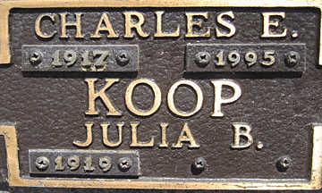 KOOP, JULIA B - Mohave County, Arizona | JULIA B KOOP - Arizona Gravestone Photos