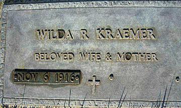 KRAEMER, WILDA R - Mohave County, Arizona | WILDA R KRAEMER - Arizona Gravestone Photos