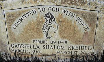 KREIDEL, GABRIELLA SHALOM - Mohave County, Arizona | GABRIELLA SHALOM KREIDEL - Arizona Gravestone Photos