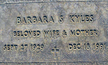KYLES, BARBARA S - Mohave County, Arizona | BARBARA S KYLES - Arizona Gravestone Photos