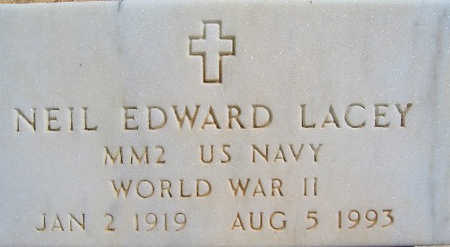 LACEY, NEIL EDWARD - Mohave County, Arizona   NEIL EDWARD LACEY - Arizona Gravestone Photos