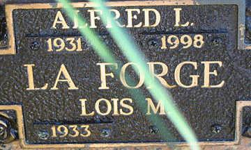LAFORGE, ALFRED L - Mohave County, Arizona | ALFRED L LAFORGE - Arizona Gravestone Photos