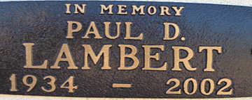 LAMBERT, PAUL D - Mohave County, Arizona | PAUL D LAMBERT - Arizona Gravestone Photos