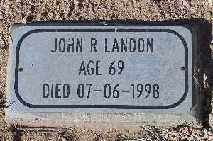 LANDON, JOHN R - Mohave County, Arizona | JOHN R LANDON - Arizona Gravestone Photos
