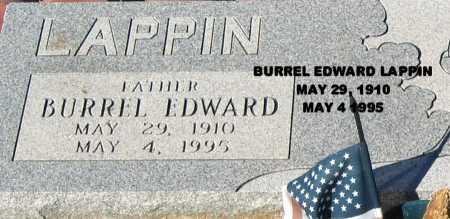 LAPPIN, BURREL EDWARD - Mohave County, Arizona | BURREL EDWARD LAPPIN - Arizona Gravestone Photos