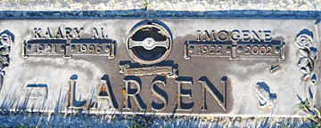 LARSEN, IMOGENE - Mohave County, Arizona | IMOGENE LARSEN - Arizona Gravestone Photos