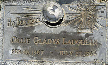 LAUGHLIN, OLLIE GLADYS - Mohave County, Arizona | OLLIE GLADYS LAUGHLIN - Arizona Gravestone Photos