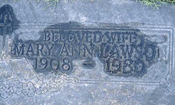 LAWSON, MARY ANN - Mohave County, Arizona | MARY ANN LAWSON - Arizona Gravestone Photos