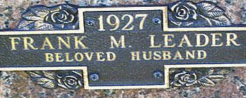 LEADER, FRANK M - Mohave County, Arizona   FRANK M LEADER - Arizona Gravestone Photos