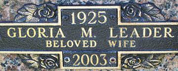 LEADER, GLORIA M - Mohave County, Arizona | GLORIA M LEADER - Arizona Gravestone Photos